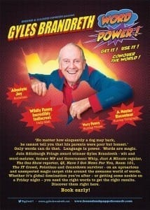 Gyles Brandreth UK tour Word power