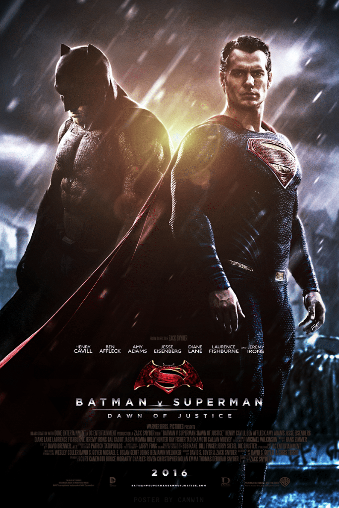 Batman V Superman movie poster