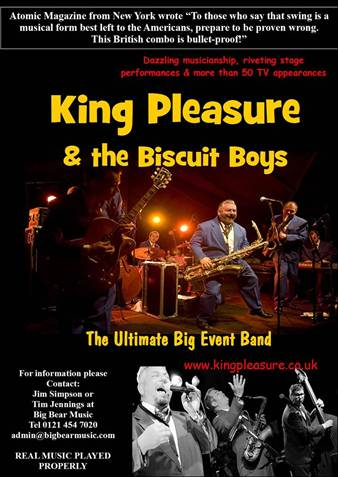 Event image-KING PLEASURE AND THE BISCUIT BOYS - Tivoli
