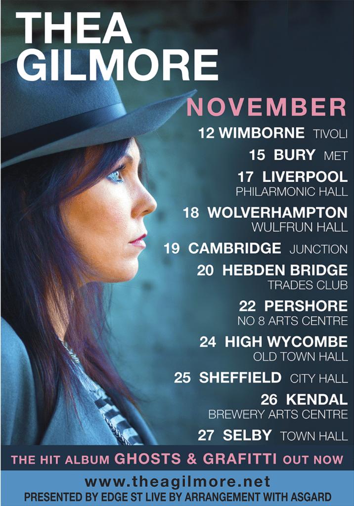 Thea Gilmore poster image uk tour 2015
